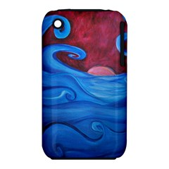 Blown Ocean Waves Apple iPhone 3G/3GS Hardshell Case (PC+Silicone)