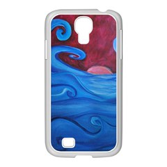 Blown Ocean Waves Samsung Galaxy S4 I9500/ I9505 Case (white)