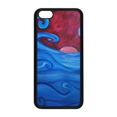 Blown Ocean Waves Apple iPhone 5C Seamless Case (Black)