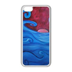 Blown Ocean Waves Apple iPhone 5C Seamless Case (White)