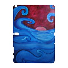 Blown Ocean Waves Samsung Galaxy Note 10.1 (P600) Hardshell Case