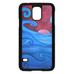 Blown Ocean Waves Samsung Galaxy S5 Case (black)
