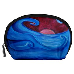 Blown Ocean Waves Accessory Pouch (large)