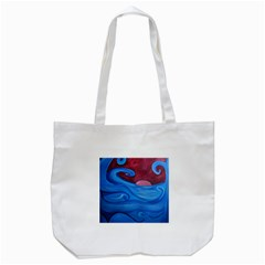 Blown Ocean Waves Tote Bag (white)
