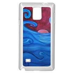Blown Ocean Waves Samsung Galaxy Note 4 Case (white)