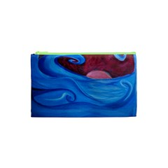 Blown Ocean Waves Cosmetic Bag (XS)