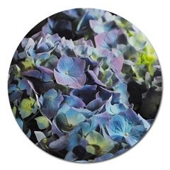 Blue And Purple Hydrangea Group Magnet 5  (round)