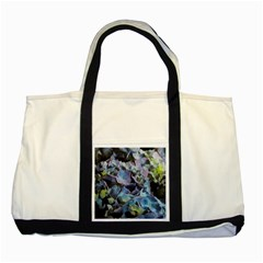 Blue and Purple Hydrangea Group Two Toned Tote Bag