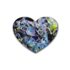 Blue And Purple Hydrangea Group Drink Coasters 4 Pack (heart)