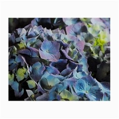 Blue And Purple Hydrangea Group Glasses Cloth (small, Two Sided)