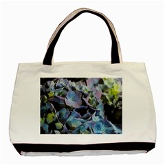 Blue and Purple Hydrangea Group Twin-sided Black Tote Bag