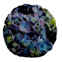 Blue And Purple Hydrangea Group 18  Premium Round Cushion