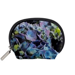 Blue and Purple Hydrangea Group Accessory Pouch (Small)