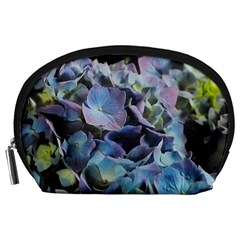 Blue and Purple Hydrangea Group Accessory Pouch (Large)
