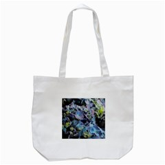 Blue And Purple Hydrangea Group Tote Bag (white)