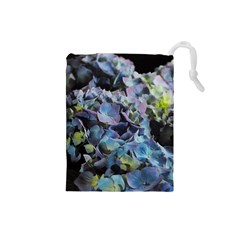 Blue and Purple Hydrangea Group Drawstring Pouch (Small)