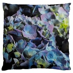 Blue and Purple Hydrangea Group Large Flano Cushion Case (Two Sides)