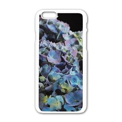 Blue and Purple Hydrangea Group Apple iPhone 6 White Enamel Case
