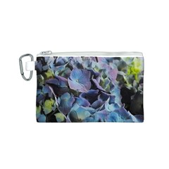 Blue and Purple Hydrangea Group Canvas Cosmetic Bag (Small)