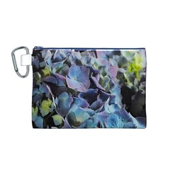 Blue and Purple Hydrangea Group Canvas Cosmetic Bag (Medium)
