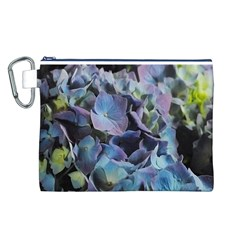Blue and Purple Hydrangea Group Canvas Cosmetic Bag (Large)