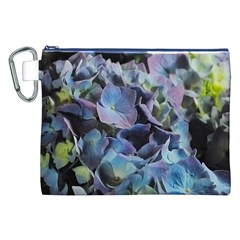 Blue and Purple Hydrangea Group Canvas Cosmetic Bag (XXL)