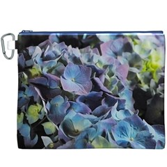 Blue and Purple Hydrangea Group Canvas Cosmetic Bag (XXXL)