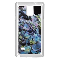 Blue And Purple Hydrangea Group Samsung Galaxy Note 4 Case (white)