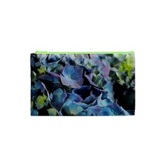 Blue and Purple Hydrangea Group Cosmetic Bag (XS)