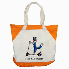 A Dog On A Scooter Accent Tote Bag