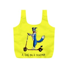 A Dog On A Scooter Reusable Bag (s)