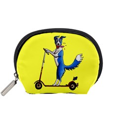 A Dog On A Scooter Accessory Pouch (Small)
