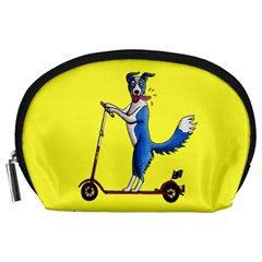 A Dog On A Scooter Accessory Pouch (large)