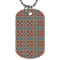 Squares Rectangles And Other Shapes Pattern Dog Tag (one Side)