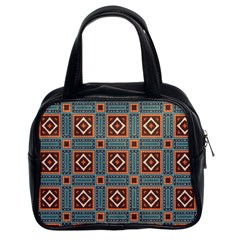 Squares Rectangles And Other Shapes Pattern Classic Handbag (two Sides)