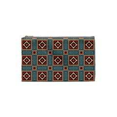 Squares Rectangles And Other Shapes Pattern Cosmetic Bag (small)