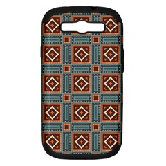 Squares Rectangles And Other Shapes Pattern Samsung Galaxy S Iii Hardshell Case (pc+silicone)