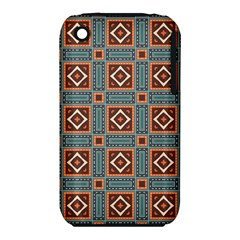 Squares rectangles and other shapes pattern Apple iPhone 3G/3GS Hardshell Case (PC+Silicone)