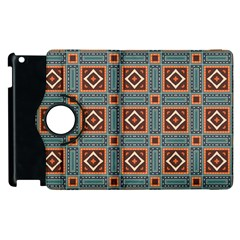 Squares rectangles and other shapes pattern Apple iPad 3/4 Flip 360 Case