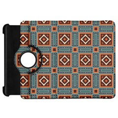 Squares Rectangles And Other Shapes Pattern Kindle Fire Hd Flip 360 Case