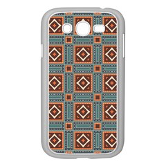 Squares rectangles and other shapes pattern Samsung Galaxy Grand DUOS I9082 Case (White)