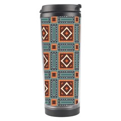 Squares Rectangles And Other Shapes Pattern Travel Tumbler