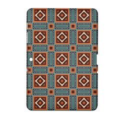 Squares Rectangles And Other Shapes Pattern Samsung Galaxy Tab 2 (10 1 ) P5100 Hardshell Case