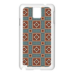 Squares rectangles and other shapes pattern Samsung Galaxy Note 3 N9005 Case (White)