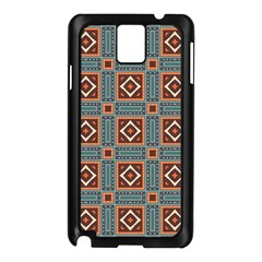 Squares rectangles and other shapes pattern Samsung Galaxy Note 3 N9005 Case (Black)