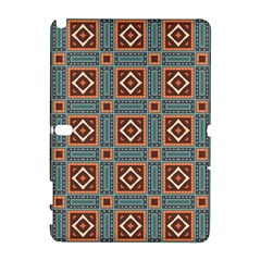Squares Rectangles And Other Shapes Pattern Samsung Galaxy Note 10 1 (p600) Hardshell Case