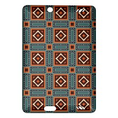 Squares rectangles and other shapes pattern Kindle Fire HD (2013) Hardshell Case