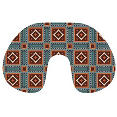Squares rectangles and other shapes pattern Travel Neck Pillow