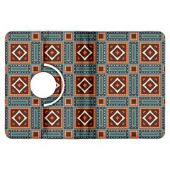 Squares rectangles and other shapes pattern Kindle Fire HDX Flip 360 Case