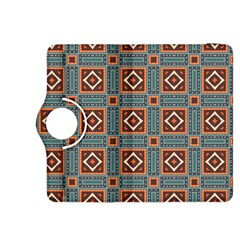 Squares rectangles and other shapes pattern Kindle Fire HDX 8.9  Flip 360 Case